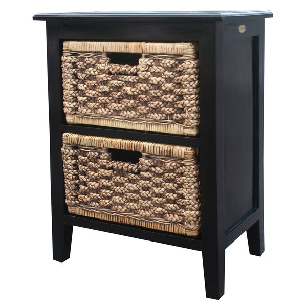 Water Hyacinth 2 Drawer Accent Chest By Chic Teak