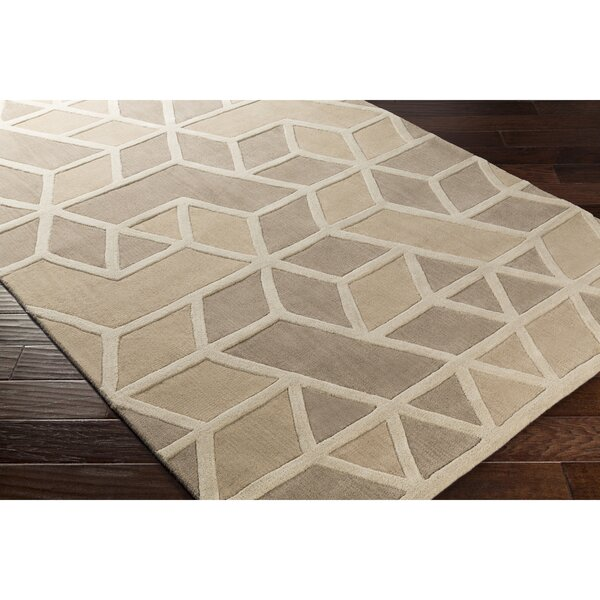 Vaughan Hand-Tufted Neutral Area Rug by Wrought Studio