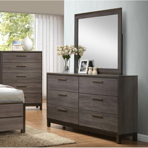 Lehner 6 Drawer Double Dresser with Mirror by Union Rustic