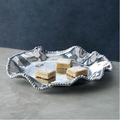 Organic Pearl Olanes Rround Platter by Beatriz Ball