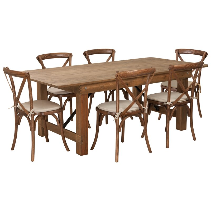 Charmant Pitre Rustic 7 Piece Dining Set