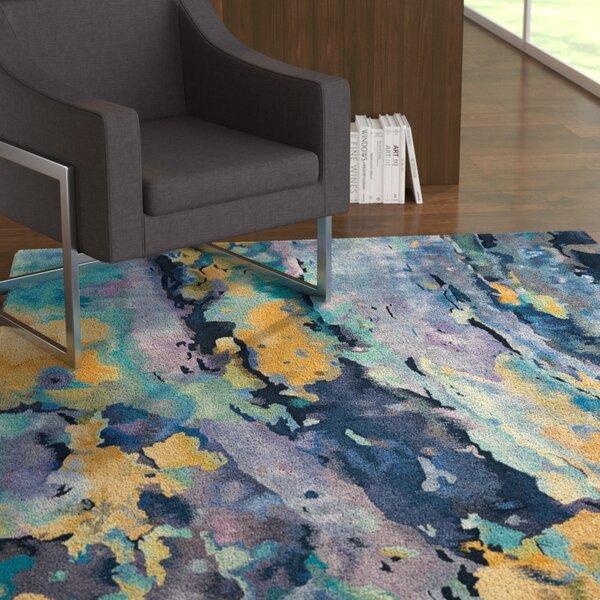 Annan Hand-Tufted Silver/Blue Area Rug by Latitude Run