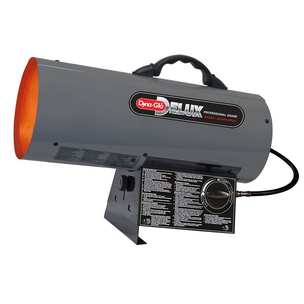60,000 BTU Portable Propane Forced Air Utility Heater With Continuous Electronic Ignition By Dyna-Glo
