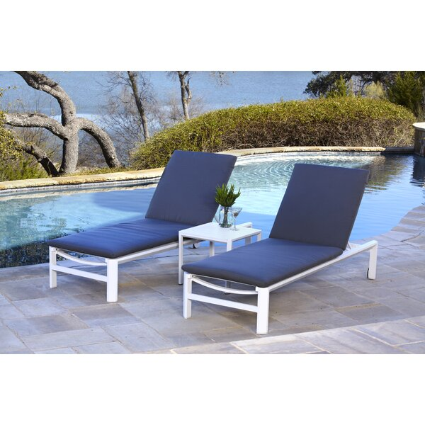Bemelle Reclining Chaise Lounge with Cushion by Ebern Designs