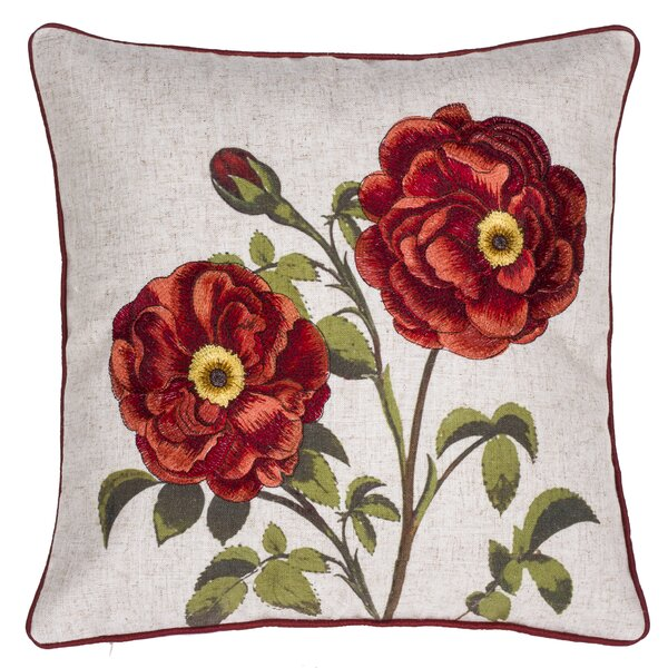 Perfect Petal Embroidered Throw Pillow by 14 Karat Home Inc.