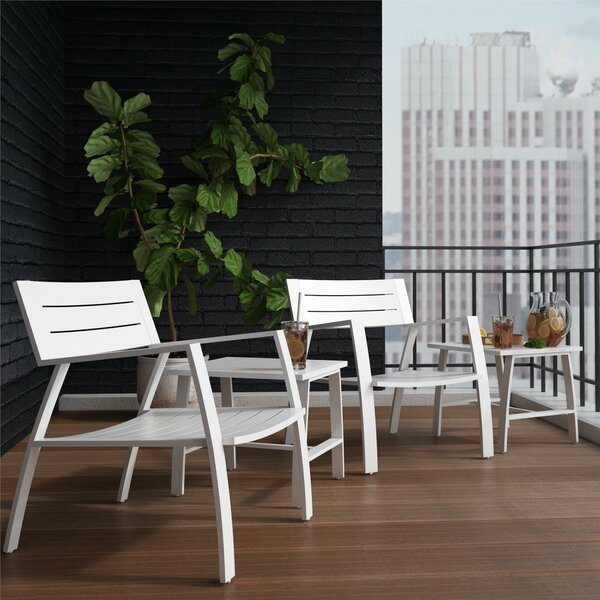 Avisa Outdoor Bistro 4 Piece Seating Group by CosmoLiving by Cosmopolitan