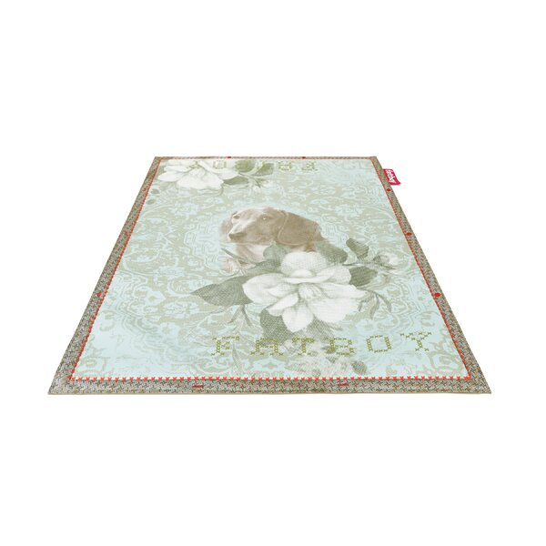 Dog Non-Flying Blue Indoor/Outdoor Novelty Rug by Fatboy