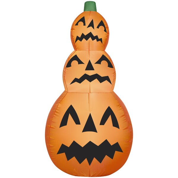 Pumpkin Stack SM Inflatable by The Holiday Aisle