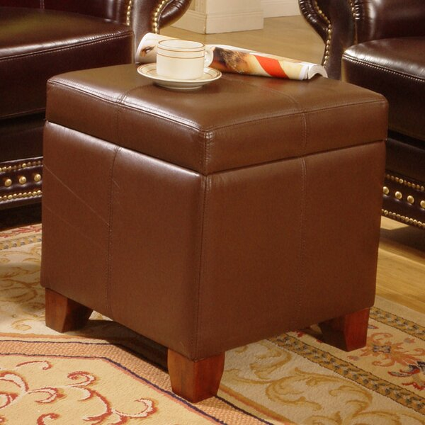 Talisha Leather Storage Ottoman By Charlton Home