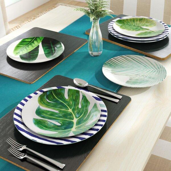 Nawrocki Leaves 8.5 Melamine Salad Plate (Set of 4) by Beachcrest Home