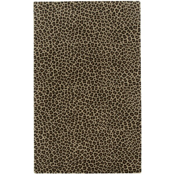 Marquetta Brown Leopard Area Rug by World Menagerie