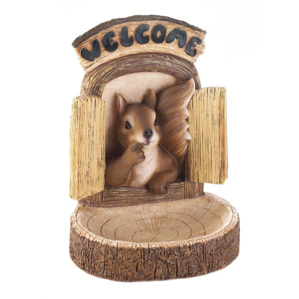 Welcome Squirrel Wall Hang Decorative Bird Feeder by Zingz & Thingz