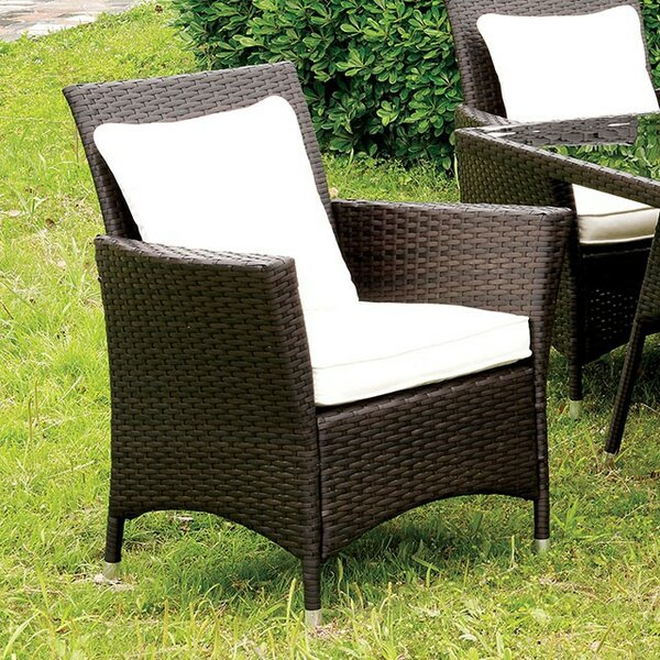 Mclain Patio Dining Chair with Cushion by Gracie Oaks