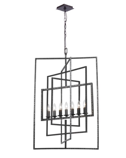 Kilmarnock 7 - Light Candle Style Square / Rectangle Chandelier By Latitude Run