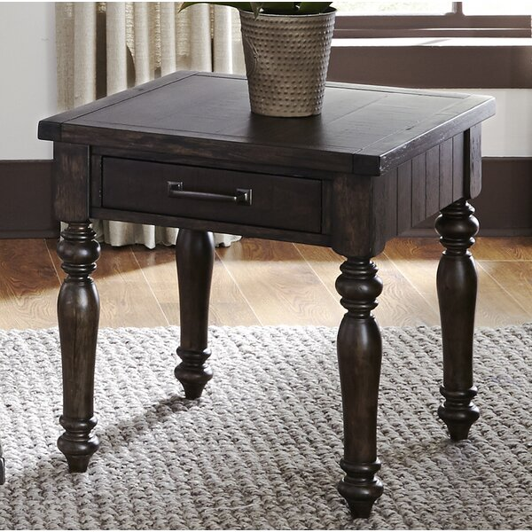 Morningstar End Table by Charlton Home