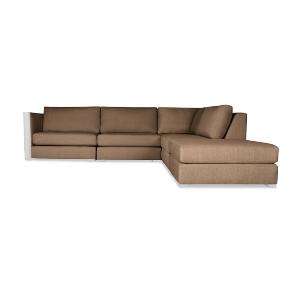 Steffi Right Hand Facing Modular Sectional with Ottoman by Orren Ellis
