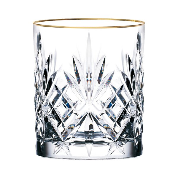 Siena Crystal Double Old Fashioned Glass (Set of 4) by Lorren Home Trends