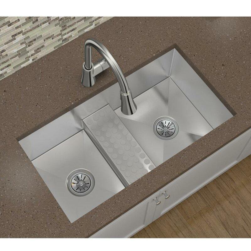 Elkay Crosstown 33 X 19 Double Basin Undermount Kitchen Sink