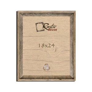 Barn Wood Reclaimed Wooden Signature Wall Picture Frame