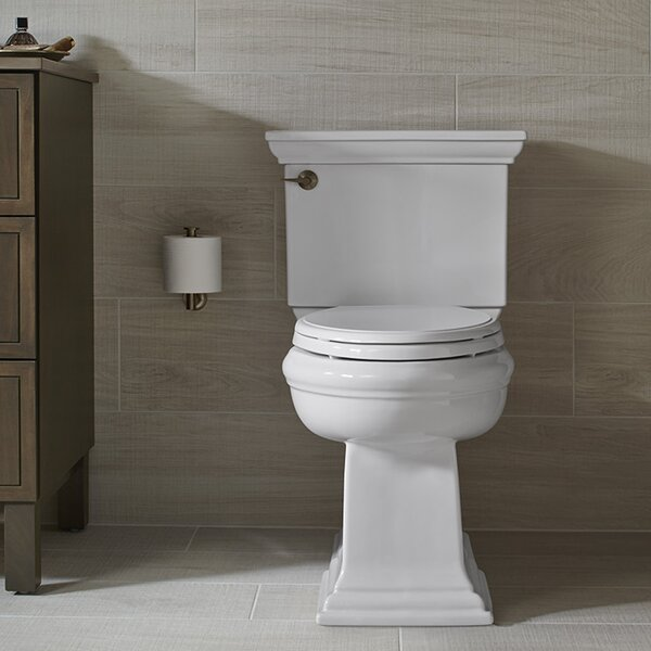 Memoirs Classic Comfort Height 2-Piece Elongated 1.28 GPF Toilet with Aquapiston Flush Technology and Left-Hand Trip Lever, Concealed Trapway by Kohler