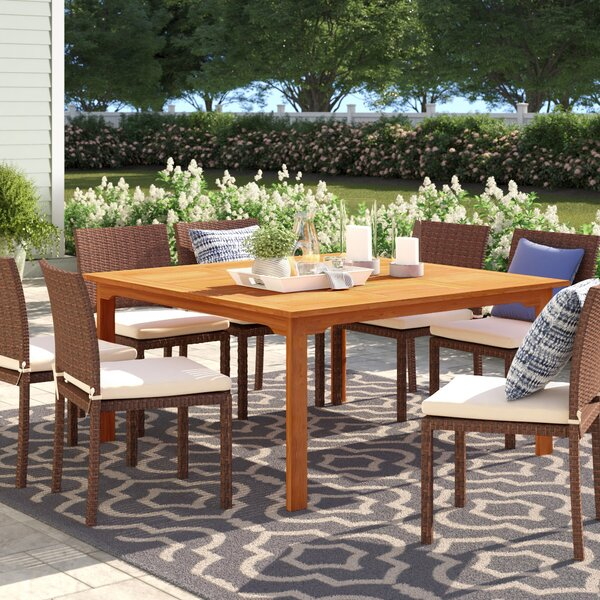 Brighton Wooden Dining Table by Sol 72 Outdoor Sol 72 Outdoor