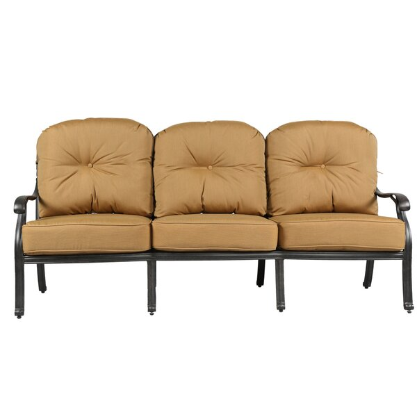 Waddington Patio Sofa with Sunbrella Cushions by Fleur De Lis Living