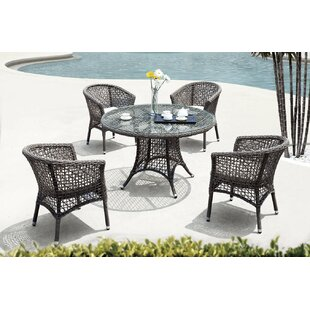 Premium 5 Piece Dining Set with Cushion By FurniCity