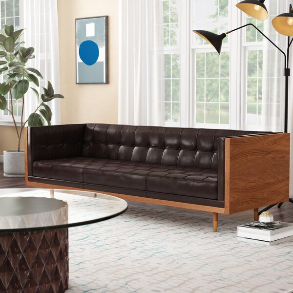 Ledger Leather Chesterfield Sofa by Modern Rustic Interiors
