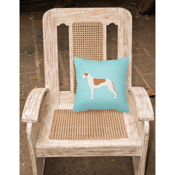 Greyhound Indoor/Outdoor Throw Pillow by East Urban Home