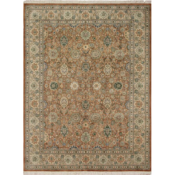 One-of-a-Kind Mickey Hand Knotted Rectangle Wool Brown/Beige Area Rug by Isabelline