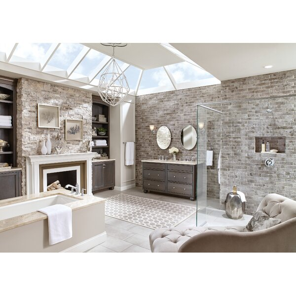 Dartmoor Single Handle Wall Mount Bath Shower Mixer by Moen