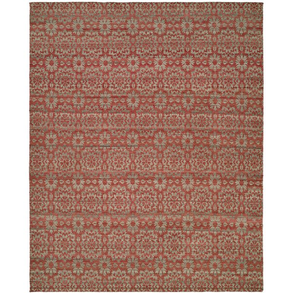 Nebraska Handmade Rose/Light Blue Area Rug by The Conestoga Trading Co.