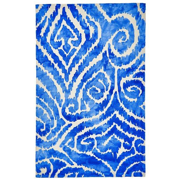 Emmeline Hand-Tufted Blue Indoor/Outdoor Area Rug by Ebern Designs