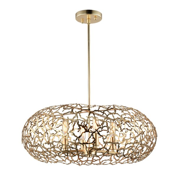 Aicha 8-Light Unique / Statement Geometric Chandelier By Everly Quinn