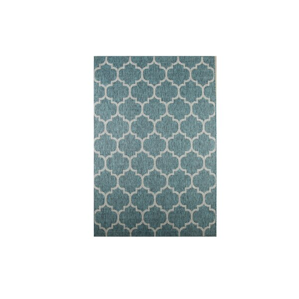 Enola Teal Outdoor Area Rug by Charlton Home