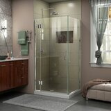 Unidoor-X 29 3/8 in. W x 34 in. D x 72 in. H Frameless Hinged Shower Enclosure by DreamLine