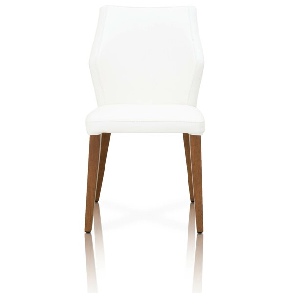 Hedon Compact Leather Upholstered Dining Chair (Set of 2) by Corrigan Studio