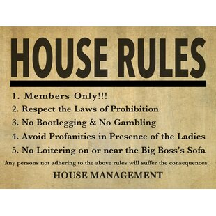 Pelley U0027House Rulesu0027 Textual Art On Canvas