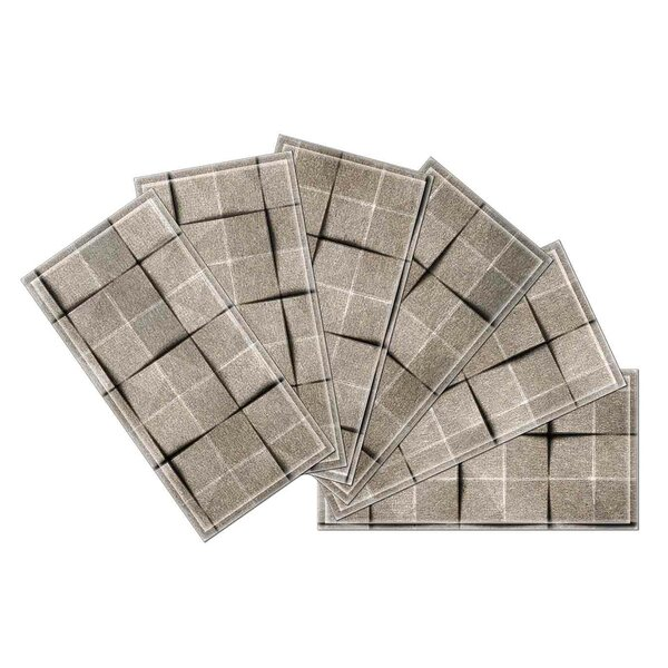 Crystal 3 x 6 Beveled Glass Subway Tile in Brown by Upscale Designs by EMA