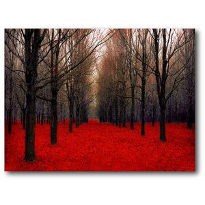 'Trees Red III' Photographic Print on Wrapped Canvas by Courtside Market