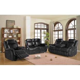 Aissata 3 Piece Reclining Living Room Set by Ebern Designs