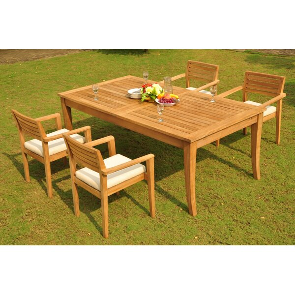 Margr 5 Piece Teak Dining Set by Rosecliff Heights