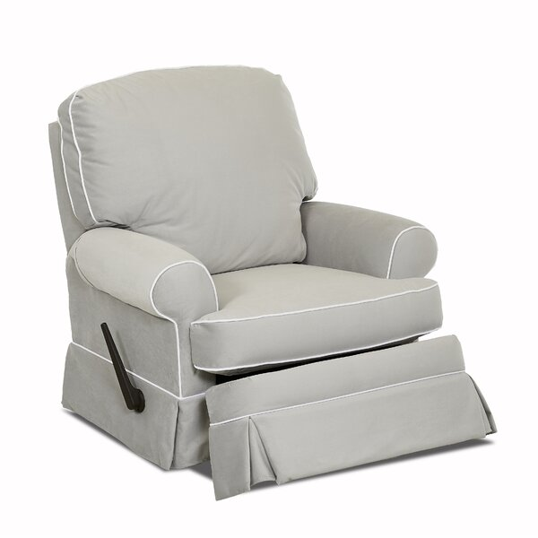 Bingham Swivel Glider Recliner with Contrasting Welt by Wayfair Custom Upholstery™