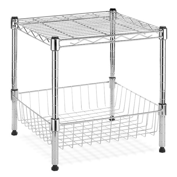 Supreme Stack Shelf with Basket by Whitmor, Inc