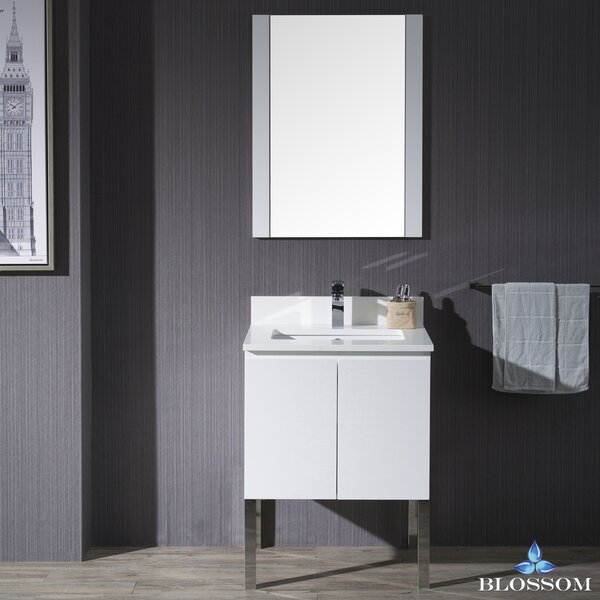 Maly Modern 24 Single Bathroom Vanity Set with Mirror by Orren Ellis