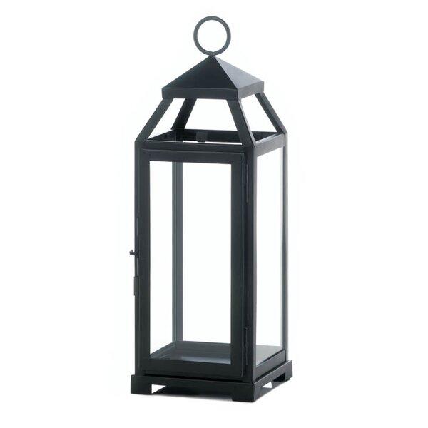 La Lean and Sleek Iron and Glass Lantern by Zingz & Thingz