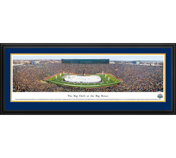 NCAA The Big Chill At The Big House, Michigan State University by James Blakeway Framed Photographic Print by Blakeway Worldwide Panoramas, Inc