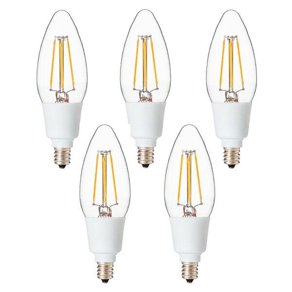 4 Watt Candelabra LED Light Bulb (Set of 5) by Artiva USA