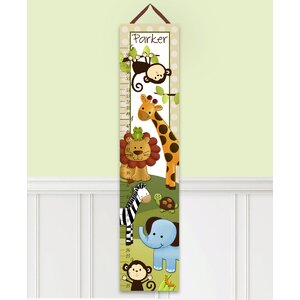 Jungle Animals Personalized Canvas Growth Chart by Toad and Lily