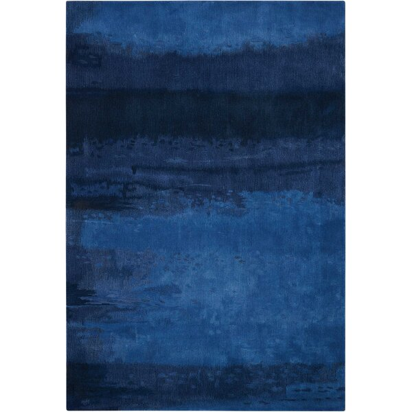 Luster Wash Handmade Blue Area Rug by Calvin Klein